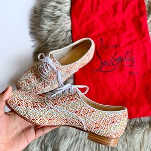 Christian Louboutin 37.5 Oxford Loafer Pumps